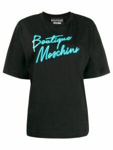 Boutique Moschino logo print T-shirt - Black