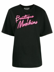 Boutique Moschino logo print T-shirt - Black