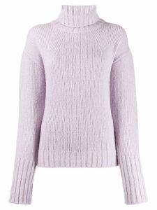 Philosophy Di Lorenzo Serafini roll neck knitted jumper - PURPLE