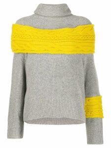 Sacai contrast panel jumper - Grey