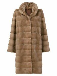 Liska Denise fur coat - Neutrals