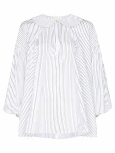 Shushu/Tong striped Peter Pan collar shirt - Blue