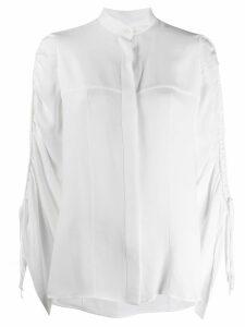 Loewe drawstring sleeve blouse - White