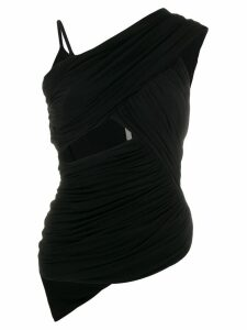 Rick Owens asymmetric wrap top - Black