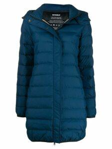 Ecoalf hooded padded coat - Blue