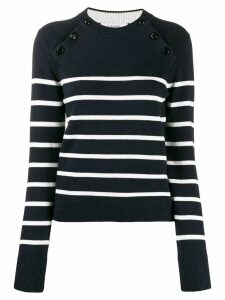 FRAME shoulder-button striped sweater - Blue