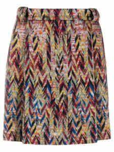 Missoni zigzag mini-skirt - Brown