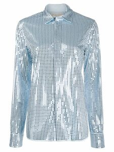 Bottega Veneta mirror-embellished shirt - Blue
