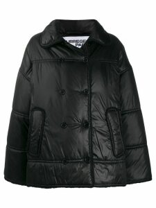 Courrèges raw trim padded puffer jacket - Black