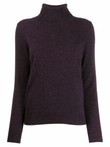 N.Peal rollneck cashmere jumper - Purple