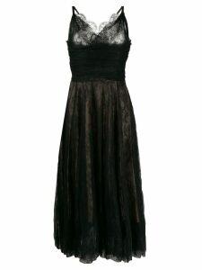 Rochas layered lace midi dress - Black