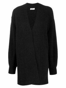 Closed single-breasted cardigan - Black