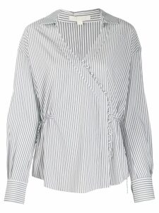 Jonathan Simkhai striped buttoned blouse - Black