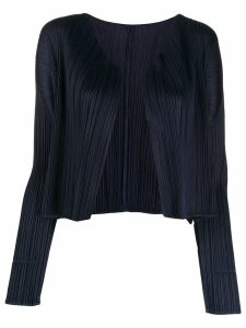 Pleats Please Issey Miyake plissé cardigan - Purple