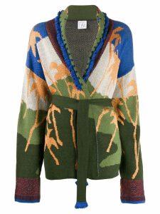 STELLA JEAN intarsia knit cardigan - Green
