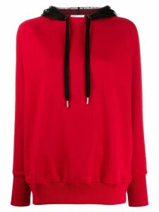 Red Valentino lace hood sweatshirt