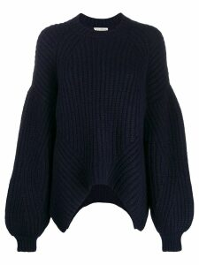 Ulla Johnson oversized draped sweater - Blue
