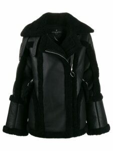 Nicole Benisti Montaigne shearling-trimmed jacket - Black