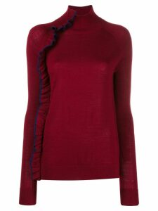Victoria Victoria Beckham ruffle trim turtleneck top - Red