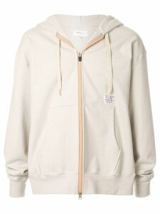 Makavelic Luminous zipped hoodie - White