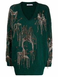 Amen oversized embellished jumper - Green