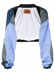 colville cropped bolero blouse - Blue