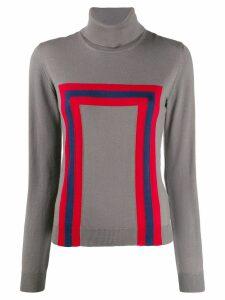 Stella Jean geometric print jumper - Grey