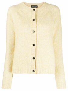 Roberto Collina round neck textured cardigan - NEUTRALS