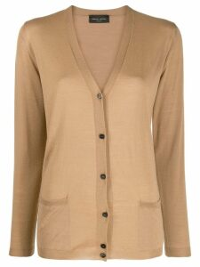 Roberto Collina V-neck cardigan - Brown