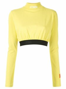 Heron Preston turtleneck crop top - Yellow