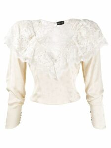 Magda Butrym lace detail blouse - NEUTRALS