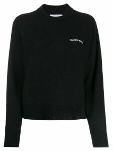 Calvin Klein Jeans logo print sweater - Black