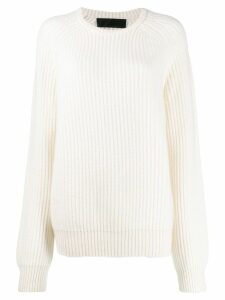 Haider Ackermann ribbed knit sweater - White