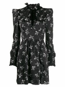 Alessandra Rich bow print dress - Black
