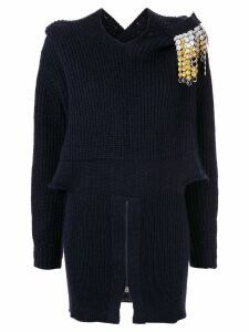 Toga strass fringe jumper - Blue