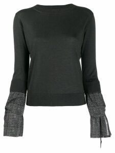 Fabiana Filippi contrast cuff sweater - Grey