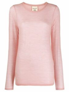 Semicouture fine knit sweater - PINK
