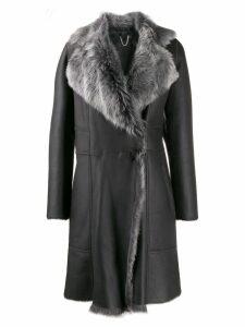 Desa 1972 fur collar coat - Grey
