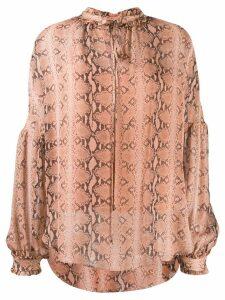Twin-Set snake print blouse - Pink