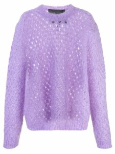 Marc Jacobs long sleeve knitted jumper - PURPLE