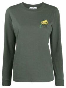 A.P.C. logo print sweatshirt - Green