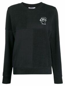 A.P.C. logo print sweatshirt - Blue