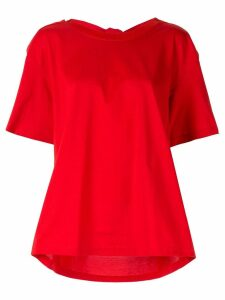 Le Ciel Bleu drape back T-shirt - Red