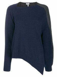 Loewe asymmetric two-tone sweater - Blue
