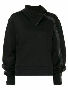 Yohji Yamamoto high-neck parka jumper - Black