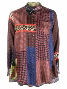 Alberto Biani multi-panel silk shirt - Red