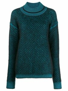 Tela oversized long-sleeve sweater - Blue