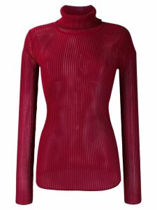 Victoria Victoria Beckham roll neck knitted top - Red