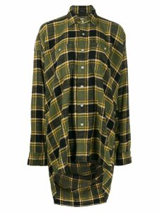 R13 oversized plaid shirt - Green