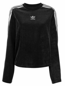adidas velvet logo sweater - Black